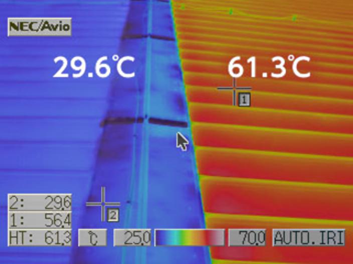 表面温度の低下効果による省エネ効果